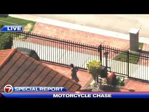 Miami Dade Motorcycle Chase Motorcyclist Surrenders (5/24/16)