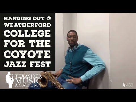 Hanging Out @ Weatherford College for the Coyote Jazz Fest