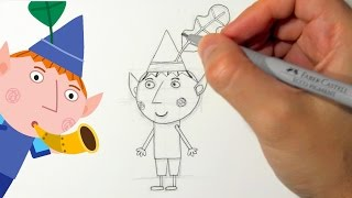 How to draw Ben Elf from Ben and Holly