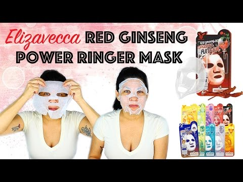 ELIZAVECCA RED GINSENG DEEP POWER RINGER MASK | First Impression & Review