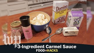 3 ingredient Caramel Sauce | Mary Beth Albright's Food Hacks