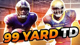 Can Lamar Jackson Get A 99 Yard Run Before Michael Vick? Madden 19 Challenge