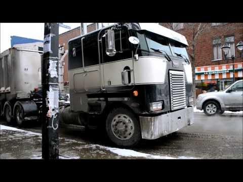 PETERBILT COE / INTL / FREIGHTLINER TRUCKS IN SNOW REMOVAL