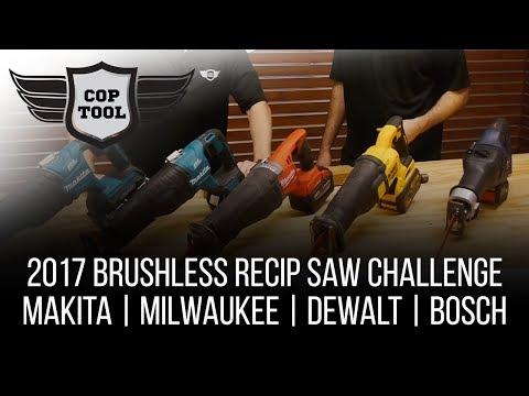 2017 Brushless Reciprocating Saw Challenge - Bosch, Dewalt, Makita, Milwaukee