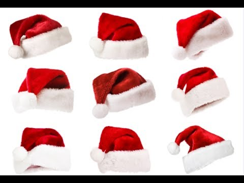 How To Make A Santa Hat Santa Hat Diy Youtube
