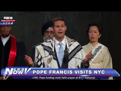 Pope Francis Interfaith Service with Rabbi Elliot Cosgrove and Cantor Azi Schwartz   9 11 Memorial M