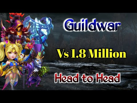 Guildwar | Killing Hero Vs 1.8 Million Might Player | Top-5 | Castle Clash