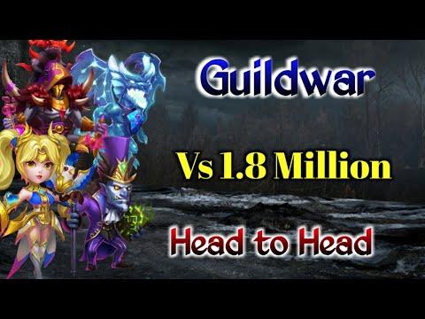 Guildwar | Killing Hero Vs 1.8 Million Might Player | Top-5 | Castle Clash