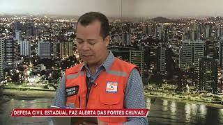 Defesa Civil estadual alerta sobre as fortes chuvas em Sergipe- Cidade Alerta