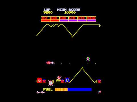 OFFENDER arcade. SCRAMBLE WITH  DEFENDER GRAPHICS. CHRIS HENRY HACK 1998  KONAMI 1981