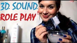 ASMR. АСМР Видео. 3D Звук. Spa для волос. Красим Волосы. (3D Sound. Binaural. Relaxing Roleplay)(, 2014-07-12T17:24:34.000Z)