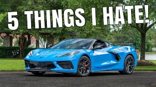 homepage tile video photo for 5 Things I HATE About My 2021 CORVETTE C8