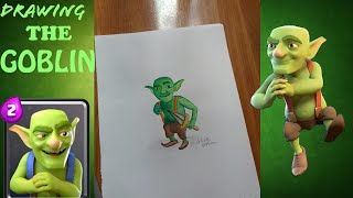 How to draw and paint THE GOBLIN from clash royale HD