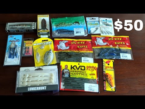 How Much Bass Fishing Tackle Can I Buy W/ $50???