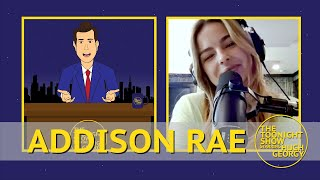 Addison Rae on her Relationship to Bryce Hall and Kourtney Kardashian on The Toonight Show