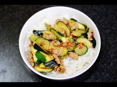 Asian Recipes – Spicy Stir Fried Zucchini – How to make Spicy Stir Fried Zucchini Recipe