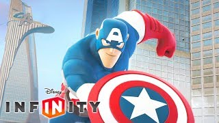 CAPTAIN AMERICA Cartoon Game Videos for Kids - Superhero Video Games for Children - Disney Infinity