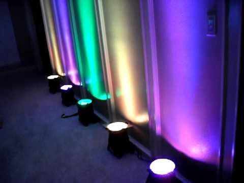 Mardi gras led par 64 demo power linking eternal lighting for Lights company