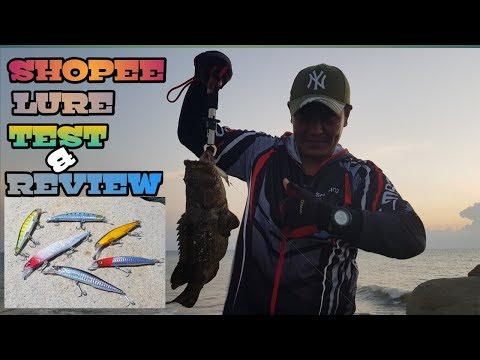SHOPEE LURES TEST & REVIEW | HOW TO CATCH GROUPER INSHORE