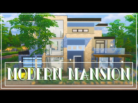 The Sims 4: Speed Build // Modern Mansion #1