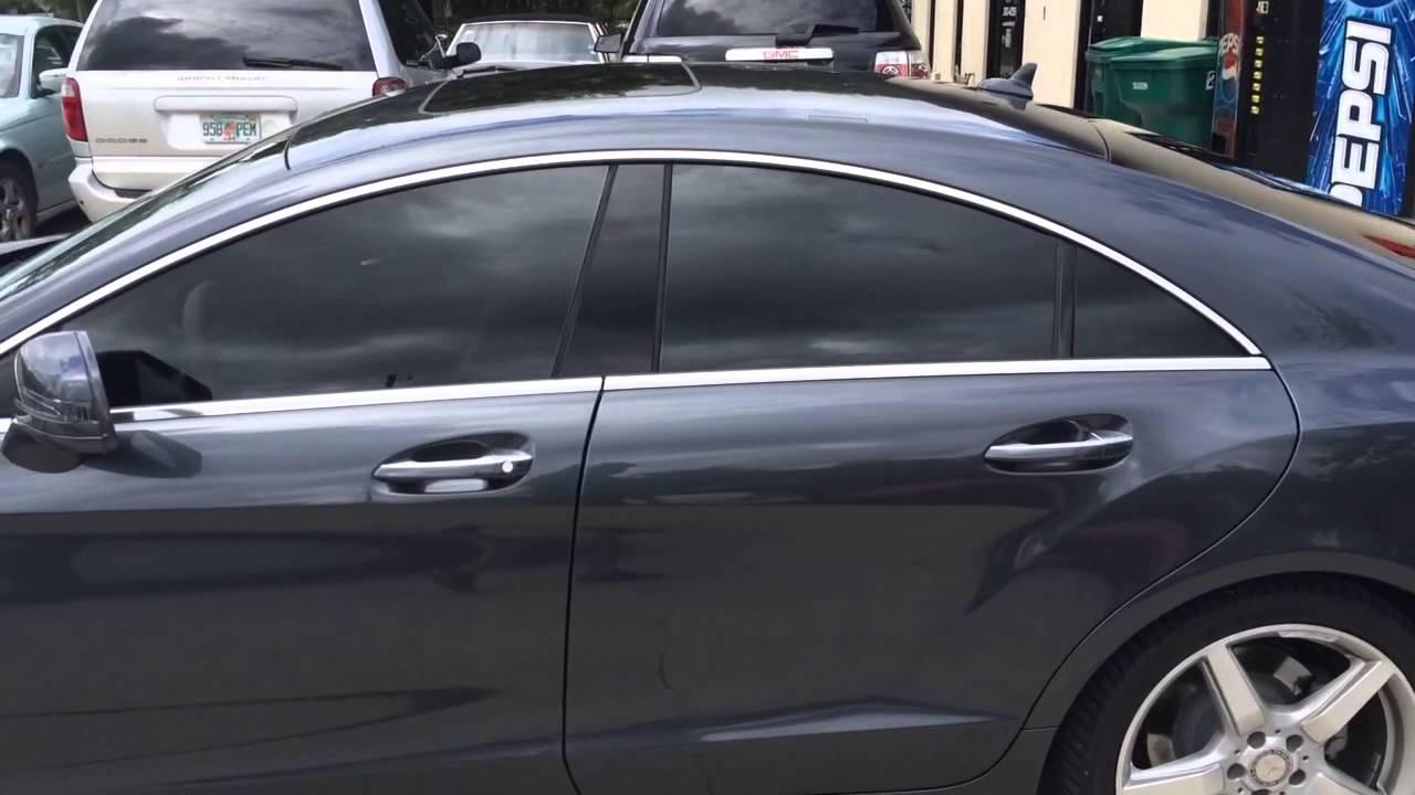Window Tint Film >> Panaflex window tinting 2014 Mercedes CLS550 - YouTube