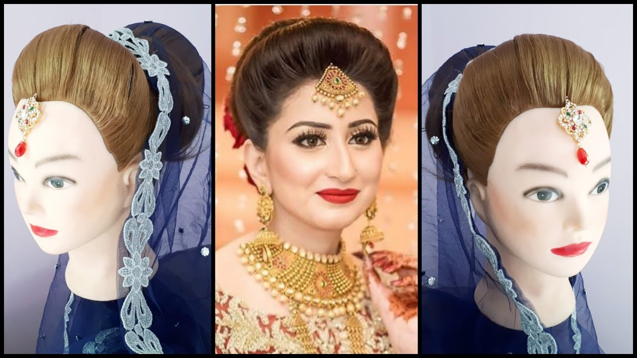 latest bridal hairdo || asian bridal hairstyle || jura hairdo || bridal hairstyle