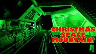 Christmas Space Mountain! Front Seat Roller Coaster POV Walt Disney World Magic Kingdom