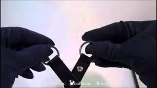 MB 101784 montblanc key fob 2 split rings portachiavi doppio anello