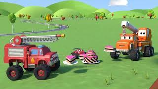 Monster Town - Phim hoạt hình xe tải quái vật Live Stream