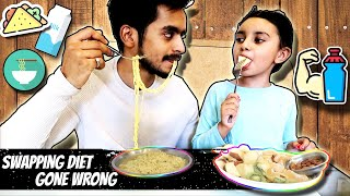 Swapping Diet with a 6 year old 😥| GONE WRONG | ARSHFAM