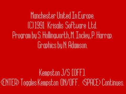 Manchester United Europe ~ ZX Spectrum