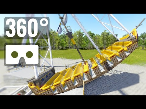 Pirate Ship 360° VR Flat Ride Roller Coaster Pirates Experience 360 video 4K