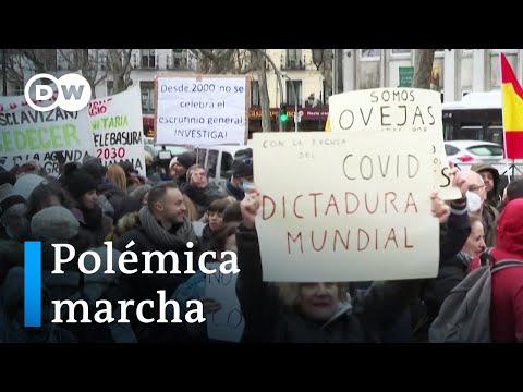 Negacionistas toman las calles de Madrid