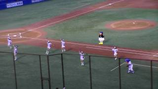 2009年8月29日、神宮球場での東京ヤクルトスワローズvs中日ドラゴンズ戦...