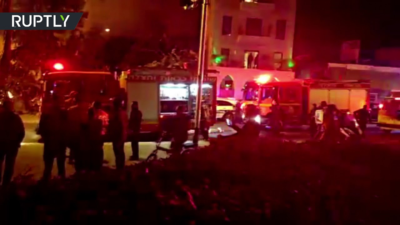 Building in flames as powerful explosion hits southern Tel Aviv