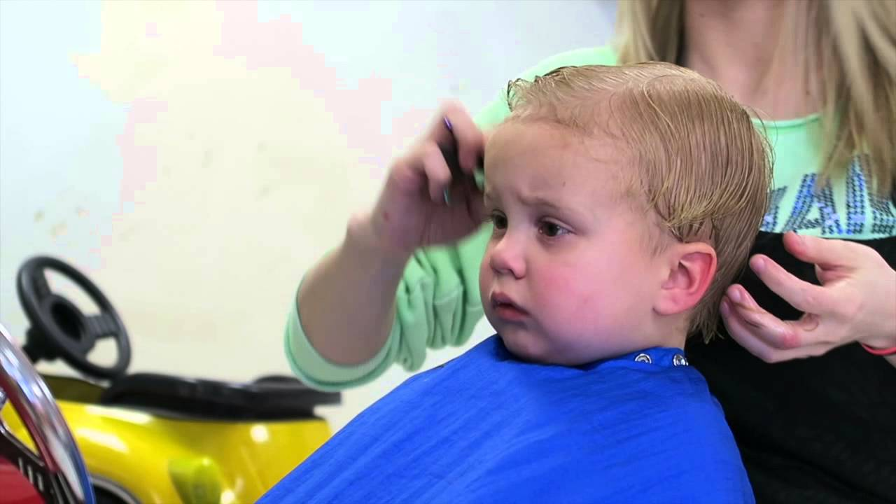 Toddler Gets A Haircut Youtube