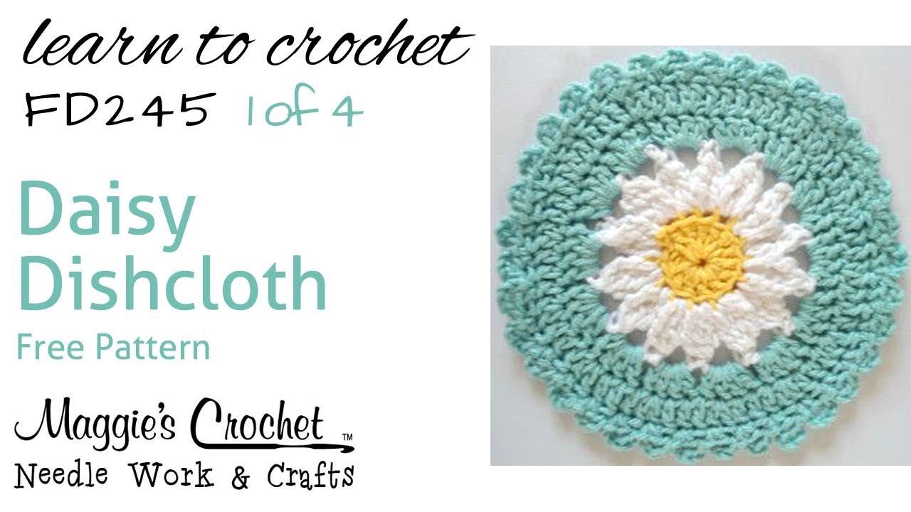 Daisy Dishcloth Part 1 of 4 Right Hand Free Crochet Pattern FD245 ...