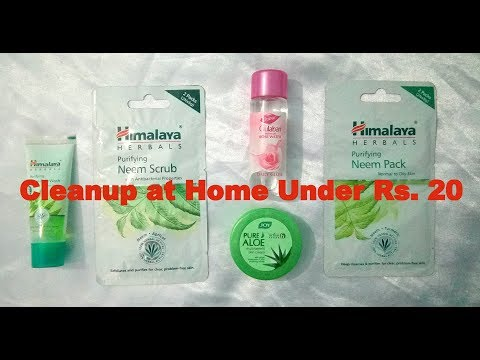 How to do Cleanup at Home under Rs. 20 || Herbal Products || in Hindi