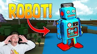 How To Build A WORKING ROBOT in Build A Boat For TREASURE! | ROBLOX