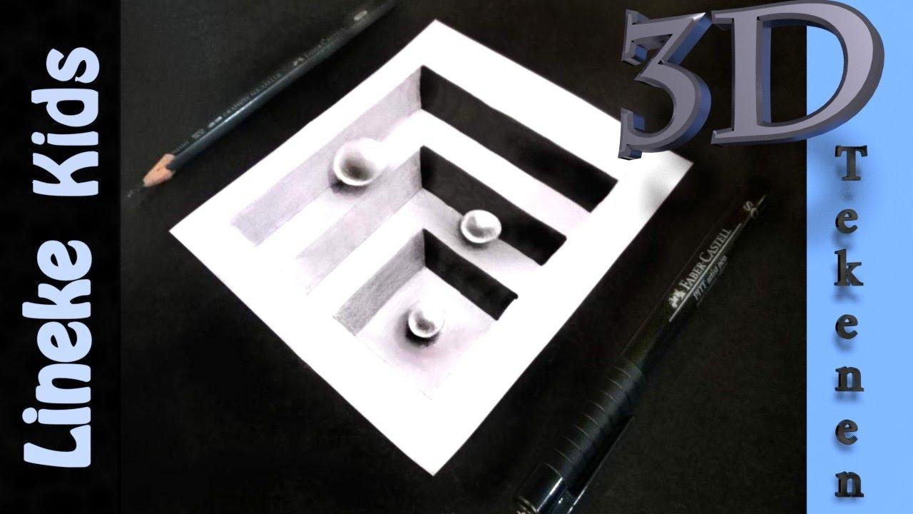 3d tekenen trap in papier makkelijk voor beginners en for Tekenen 3d