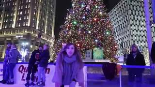 Landing BLADES OF GLORY STYLE tricks at Campus Martius Detroit BLOOD ON THE ICE