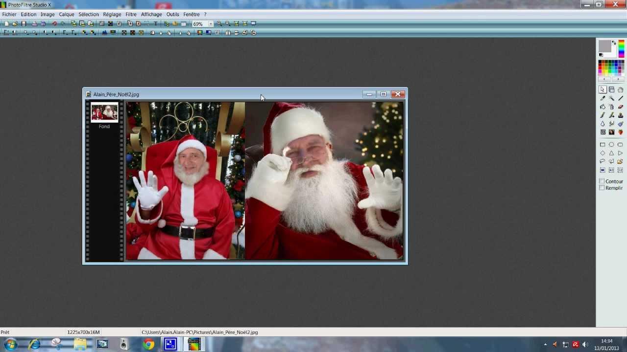 Tuto assembler 2 photos avec photofiltre youtube - Comment faire des boucles avec un lisseur ...
