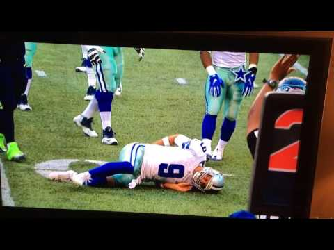 Dallas Cowboys Tony Romo preseason injury 8/25/2016 against Seattle Seahawks