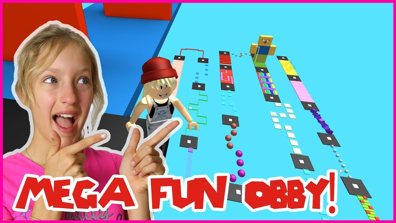 Youtube Sis Vs Bro Roblox Obbys Together Jumping Through Stages In Mega Fun Obby Youtube