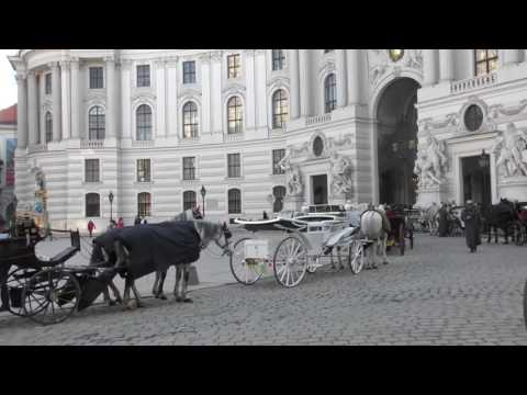 Impressions of Vienna: streets,  buildings and churches, cafés and restaurants