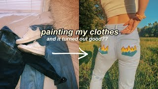 i tried painting my clothes with no artistic abilities...