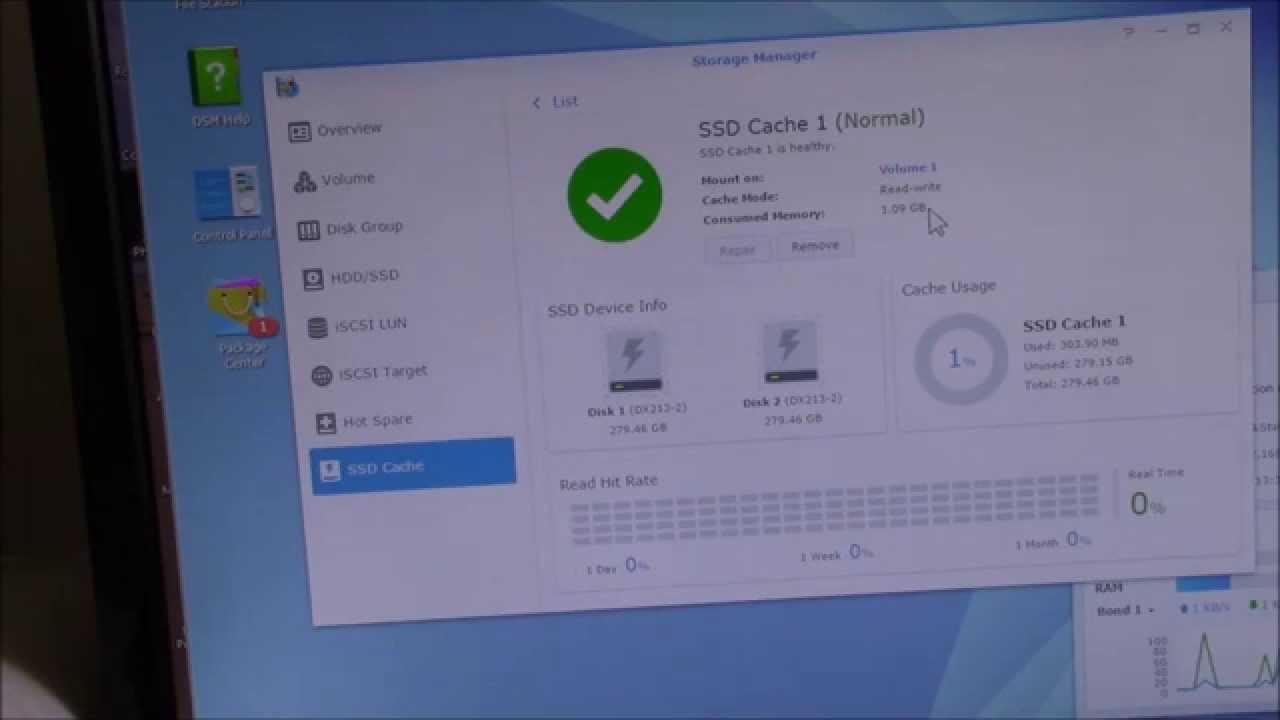 Synology Diskstation SSD Cache, Part 3