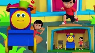 Боб Поезд Дождь Дождь Уходи   детский стишок   3D Rhymes For Kids   Bob Train Rain Rain Go Away