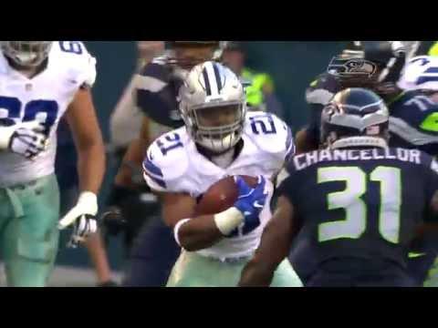Ezekiel Elliott Takes on Kam Chancellor  Cowboys vs. Seahawks Preseason  NFL