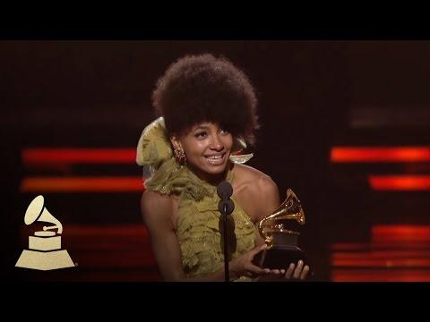 Esperanza Spalding accepting the GRAMMY for Best New Artist at the 53rd GRAMMY Awards | GRAMMYs
